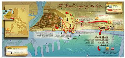 Map of British Conquest of Manila 1762