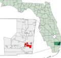 Map of Florida highlighting Dania Beach.png