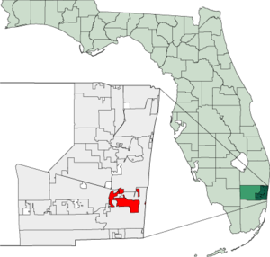Map of Florida highlighting Dania Beach.png