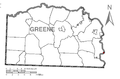 Map of Greensboro, Greene County, Pennsylvania Highlighted.png