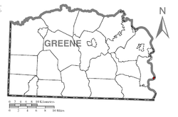 Location of Greensboro in Greene County