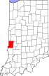 State map highlighting Vigo County