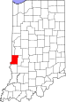 Map of Indiana highlighting Vigo County.svg