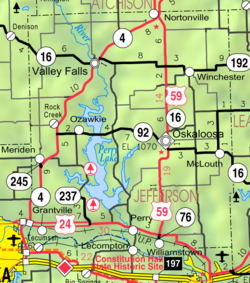 KDOT map of Jefferson County (legend)