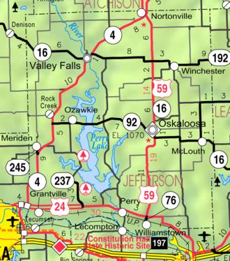 Jefferson County, Kansas - Image: Map of Jefferson Co, Ks, USA