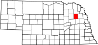Map of Nebraska highlighting Stanton County