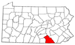 Map of Pennsylvania highlighting York County.png