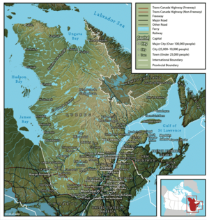 The Quebec territory.