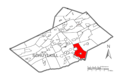 Map of Schuylkill County, Pennsylvania Highlighting West Brunswick Township.PNG