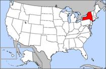 Een overzichtskaart van de staat new york