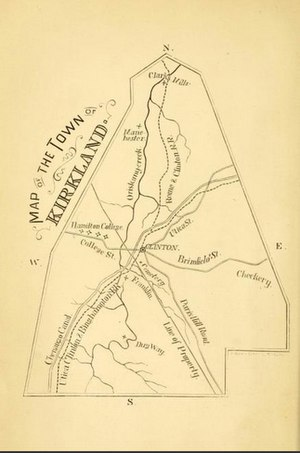 Kirkland, New York - Image: Map of the Town of Kirkland, New York, from 1874