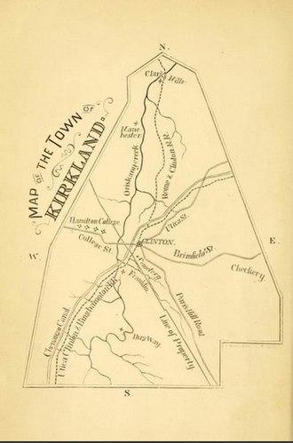 Kirkland, New York - Image: Map of the Town of Kirkland, New York, from 1874