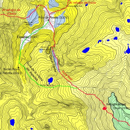 Mapa del Pico de Posets