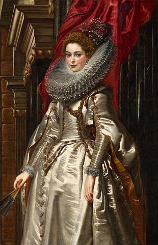 Портрет маркизы Бриджиды Спинола-Дориа. 1606, масло, холст. 152,5 × 99 см. Вашингтон, Национальная галерея искусства