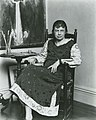 Marguerite Zorach, American painter and printmaker, 1887-1968, in her studio (cropped).jpg