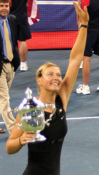 Maria Sharapova - Sharapova celebrating after winning the 2006 US Open