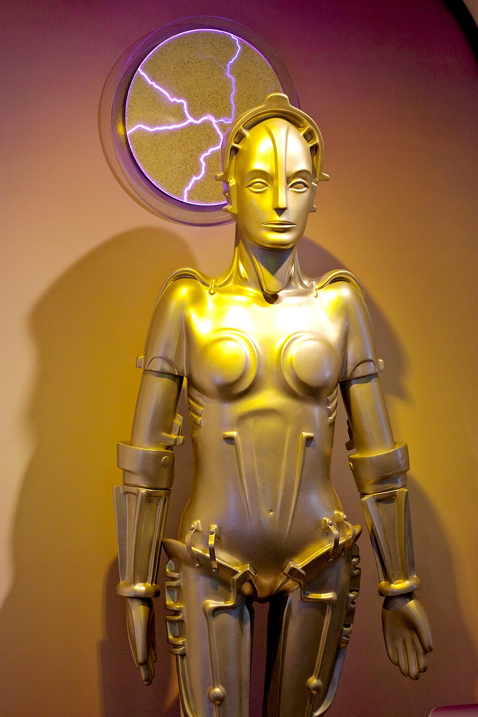 Maria from the film Metropolis, on display at the Robot Hall of Fame