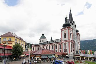 The Basilica of Mariazell is Austria's most popular pilgrimage site. Mariazell Basilika 3.jpg