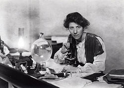Marie stopes in her laboratory, 1904