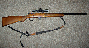 Marlin Firearms - Marlin Model 25N .22 LR rifle with aftermarket sling and scope