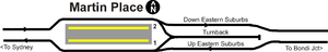 Martin Place railway station - Track layout