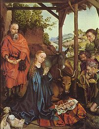 Nativity by Martin Schongauer (1475-80).