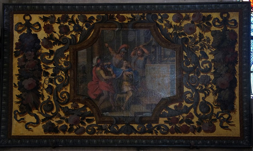 Den hellige Gundeberts martyrium