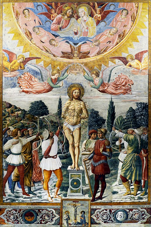 Martyrdom of Saint Sebastian in Duomo of San Gimignano