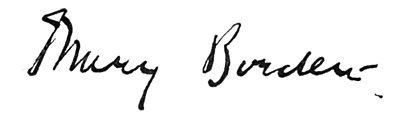 Signature of Mary Borden.
