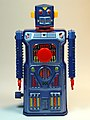 Masudaya – Tin Wind Up – Mini Target Robot (ミニ ターゲット ロボット )– Gang of Five – Front.jpg