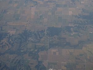 Matherville, Illinois - 2012 aerial photo of Matherville
