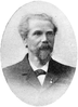 black and white portrait of a man with beard