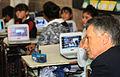 Mauricio Macri presenció una clase sobre cuidado ambiental en una escuela primaria de Nueva Pompeya (7009332391).jpg