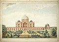 Mausoleum of Humayun, Delhi, in 1820.jpg