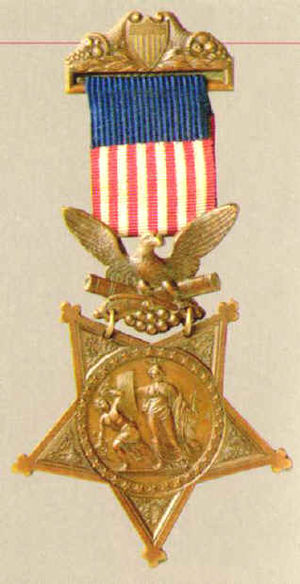 Hazard Stevens - Image: Medal of honor old