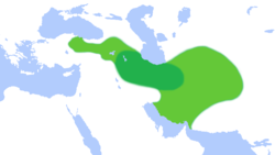 A map of the Median Empire at its greatest extent (6th century BC), according to Herodotus
