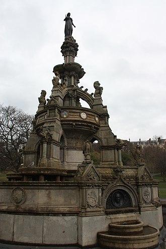 James Sellars - Memorial Fountain to Lord Provost James Stewart (1811-1866) by James Sellars, Kelvingrove Park