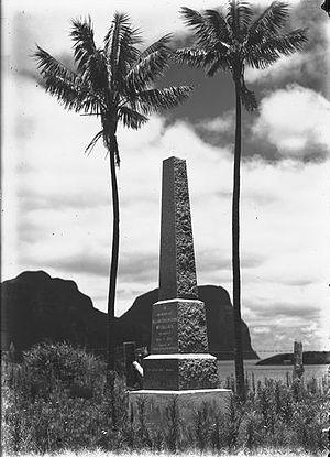 Allan Riverstone McCulloch - Memorial for Allan Riverstone McCulloch on Lord Howe Island