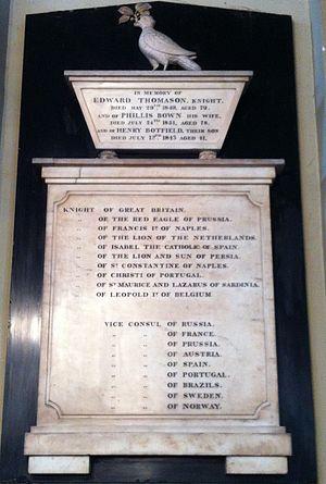 Edward Thomason - Memorial to Edward Thomason in St Philip's Cathedral, Birmingham