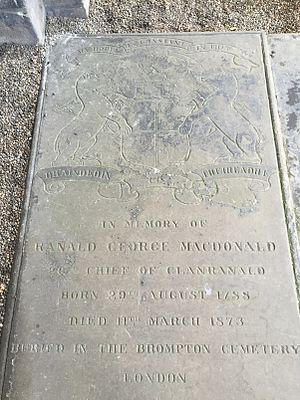 Ranald George Macdonald - Memorial to Ranald George MacDonald in Holyrood Abbey