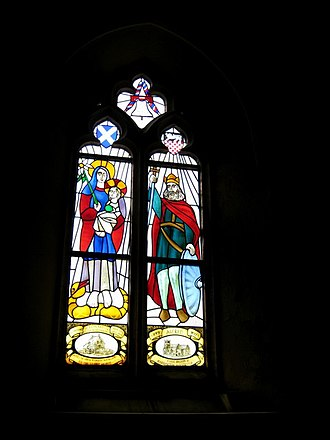 Hardington Mandeville - Image: Memorial window St Mary's Hardington Mandeville geograph.org.uk 1191867