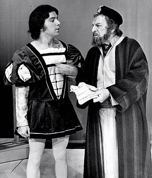 "Morris Carnovsky - Morris Carnovsky as Shylock (right) in ""The Merchant of Venice"" (1973)"