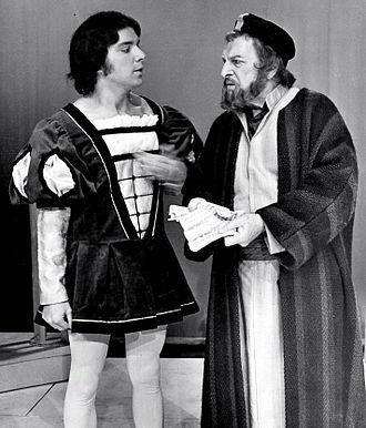"Morris Carnovsky - Morris Carnovsky as Shylock (right) in ""The Merchant of Venice"" (1973)"