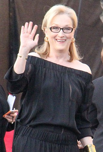 Streep at the 20th Screen Actors Guild Awards in January 2014 Meryl Streep At The 2014 SAG Awards (12024455556) (cropped 2).jpg