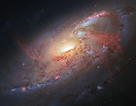 Messier 106 visible and infrared composite.jpg