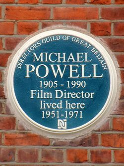 Michael powell 1905 1990 film director lived here 1951 1971