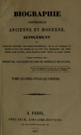 Michaud - Biographie universelle ancienne et moderne - 1811 - Tome 84.djvu