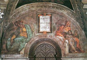 Michelangelo Sistine Chapel ceiling - Ozias, J...