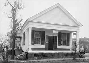 B. M. Miller's law office, Camden, Alabama, circa 1937 Milleroffice1.jpg