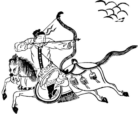 A mounted archer of the Ming Dynasty army